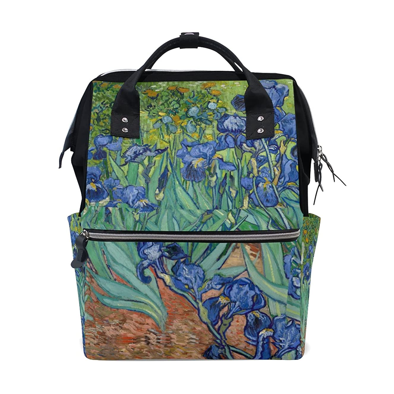Backpack School Bag Van Gogh Irises Flower Canvas Travel Doctor Style Daypack