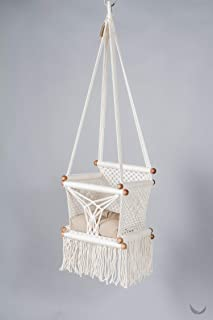 Baby Swing Chair in Cream + 1 Khaki Cushion