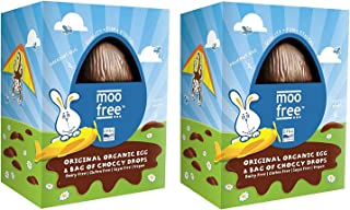 Moo Free Dairy Free Original Organic Easter Egg with Choccy Drops (Pack of 2) …