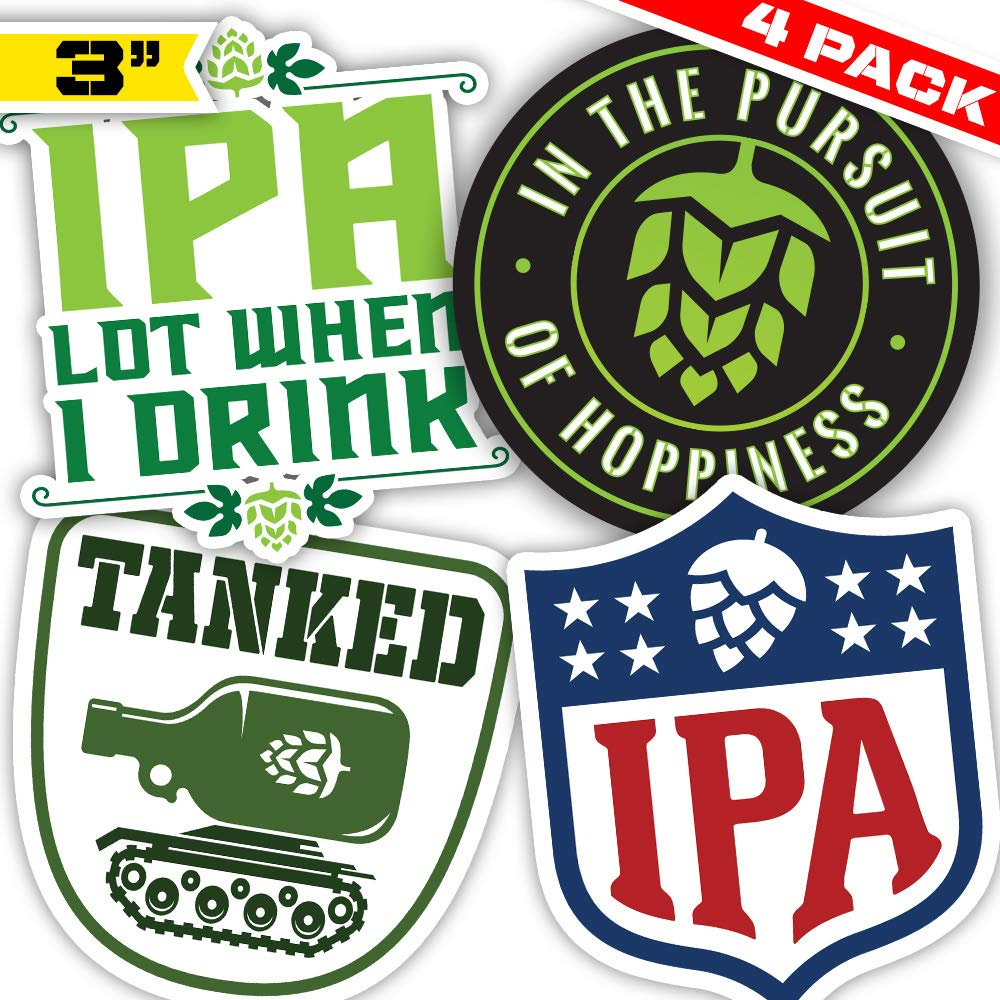Craft Beer STICKER IPA Hop Icon Logo Pale Ale Decal Brewing Brewery Brew