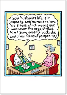 Going to Die - Funny Husband Happy Birthday Card with Envelope (4.63 x 6.75 Inch) - Humorous and Sexy Adult Humor, Bday Greeting Cards for Husbands, Men - Colorful, Comic Stationery Notecard 8547