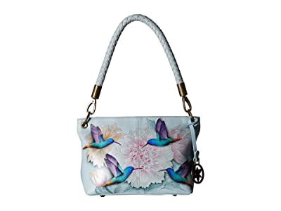 Anuschka Handbags 634 Medium Shoulder Bag (Rainbow Birds) Handbags