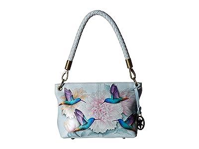 Anuschka Handbags 634 Medium Shoulder Bag (Rainbow Birds) Handbags