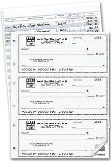 Three to a Page Duplicate Deskbook Checks, 250 Count, 6 x 8 1/4
