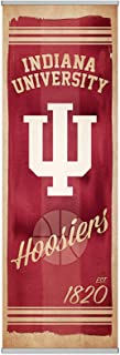 NCAA Indiana University Premium Canvas FanPanel. Instant Decor for Doors, Walls, Hallways. NCAA Gift, Party Decoration, Game Day Prize and Dorm Room Decor 72 inches tall by 24 Inches Wide Easy Install
