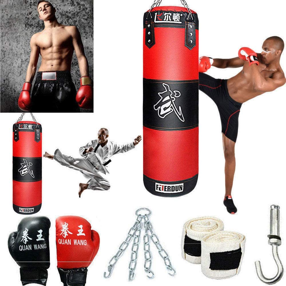 Punch Bag New Set Boxing Gloves Chain Bracket D-Shakle Heavy Duty MMA Material