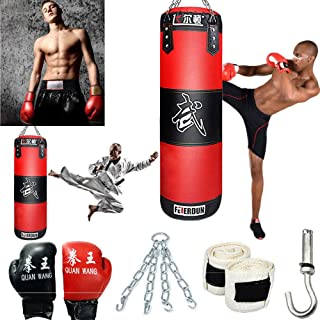 888Warehouse Heavy Boxing Punching Bag (Empty), Training Gloves Speed Set Kicking MMA Workout, Taekwondo Training Fitness Heavy Boxing Workout, Muay Thai Kick Bag