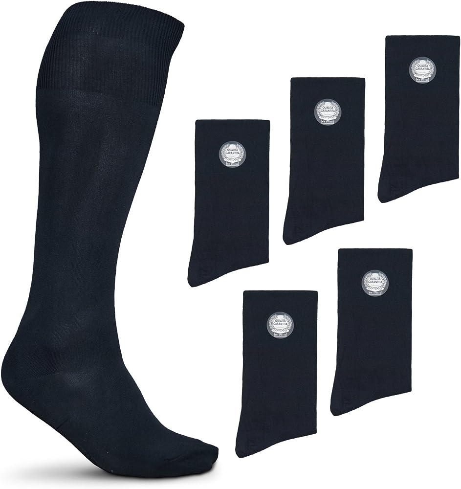 Pompea , calze lunghe per uomo in microfibra , 6 paia PackCalzePompeaMicro_1_0
