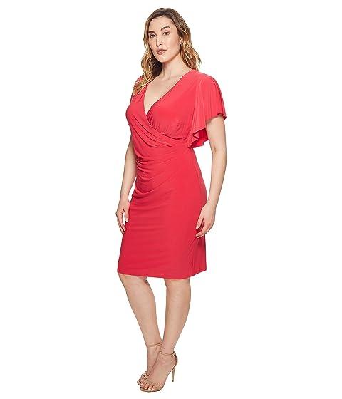 talla Pink de Vestido mate grande de Poppy Lauren LAUREN Kahlo jersey Ralph qvwx0TtU
