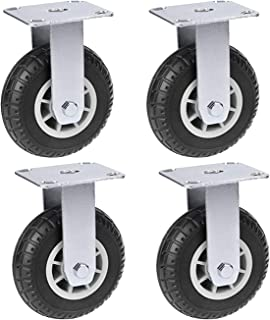 YJJT Draaibare rubberen zwenkwielen, Industriële wielen, Geschikt voor supermarkten, Logistiek transport, Fabrieken, Elekt...