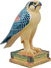 Ebros Egyptian God Horus Falcon On Pedestal Statue 6.25