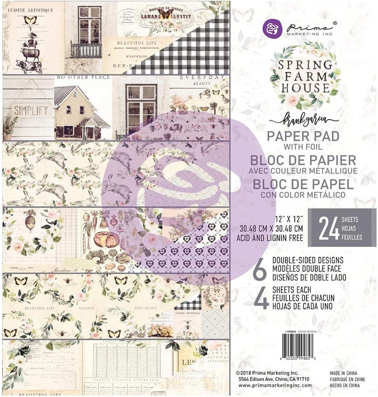 Unbekannt Prima Marketing Double-Sided Paper Pad 12 X12    24 Pkg-Spring Farmhouse, 6 Foiled Designs 4 Eac B07LBT3XB8   Verkauf    Für Ihre Wahl    Am praktischsten  b33d58