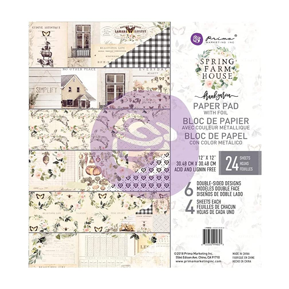 Prima Marketing Spring Farmhouse 12x12 Paper Pad