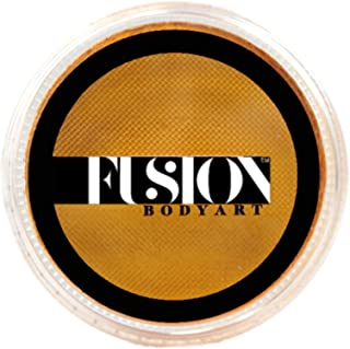 Fusion Body Art Pro Face Paint   Pearl Metallic Gold (32gm), Professional Quality Water Activated Shimmery Face and Body P...