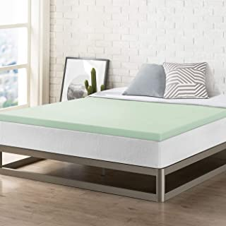 Best Price Mattress 2 Inch Memory Foam Bed Topper with Green Tea Cooling Mattress Pad, King Size