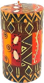 Global Crafts Single Boxed Hand-Painted Pillar Candle - Bongazi Design - Nobunto Candles