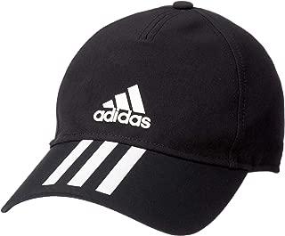 adidas Men's C40 3-Stripes Climalite Cap, Black (Black/White), One Size