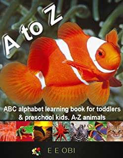 ABC alphabet learning book for toddlers & preschool kids. A-Z animals