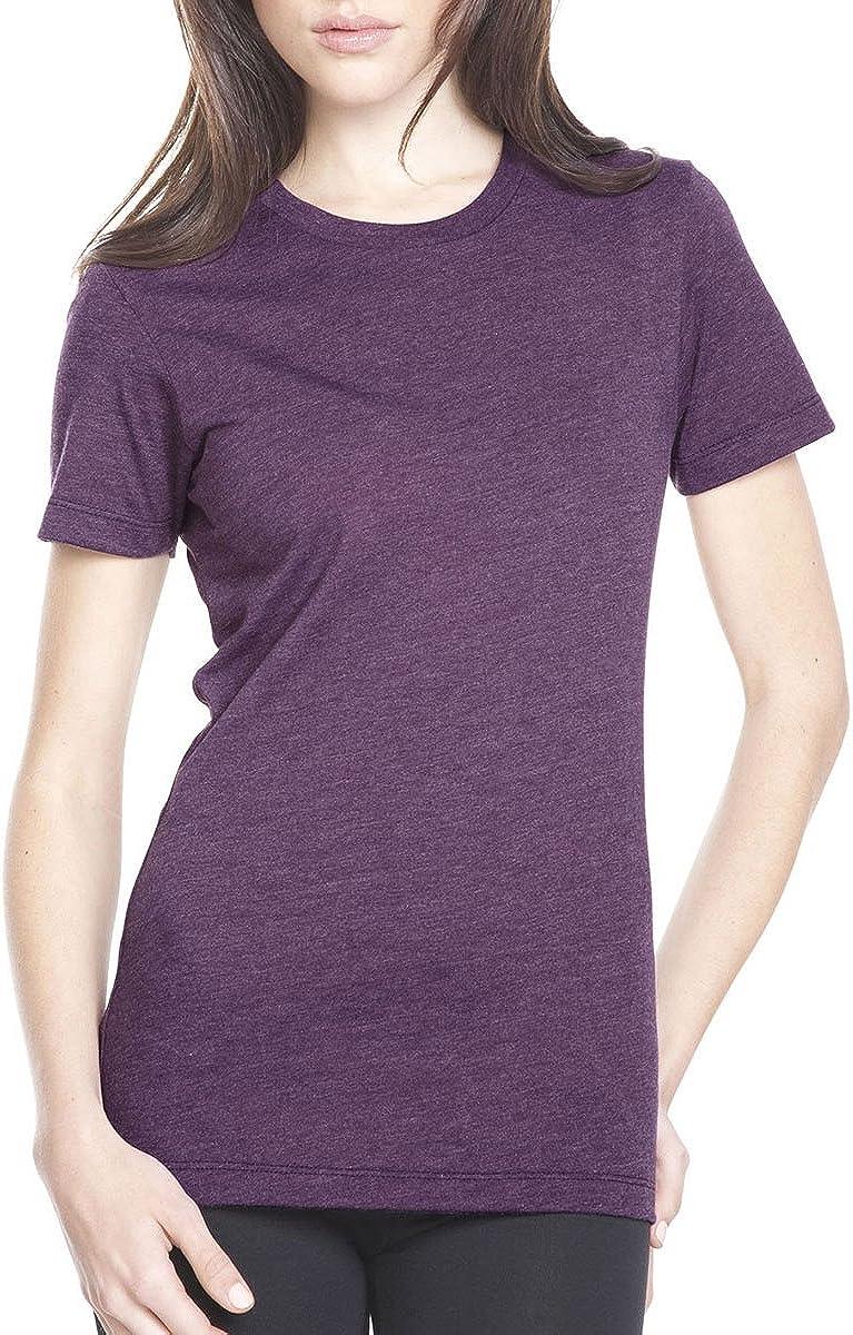 Next Level Women's Tear Away plum Small service T-Shirt low-pricing Pack Crewneck