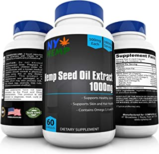 Hemp Oil Capsules - 30,000mg Total - Natural Hemp Seed Extract - Soft Gel- Promote Pain Relief help Anxiety- Capsule More Potent than Gummies - Body Lotion and Vape Pen supplements - Made in USA
