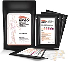 RUNBO Ketone Test Strips 120 Counts in 3 Bags. Accurate and Easy for Urine Keto Level Test. Perfect Test Strips if You are...