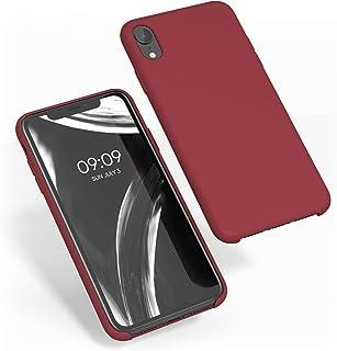kwmobile Funda Compatible con Apple iPhone XR - Carcasa de TPU para móvil - Cover Trasero en Rojo Oscuro
