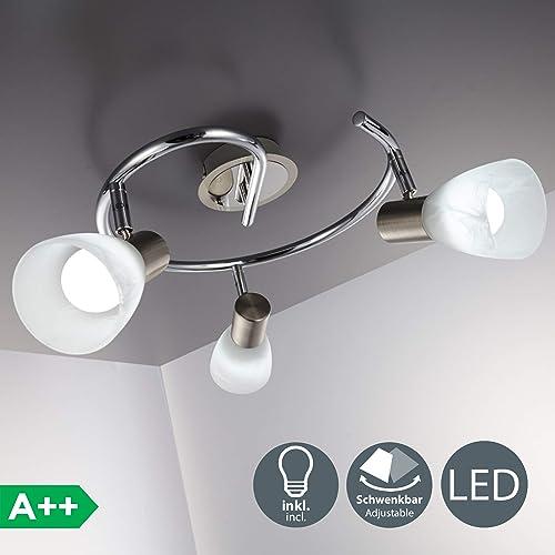 LED tres de techo focos cocina Lámpara lámpara de con N8XnwO0Pk