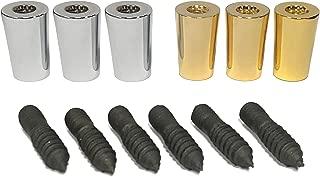 Tap Handle Repair Kit (Includes 3 gold ferrules + 3 chrome ferrules + 6 bolts)