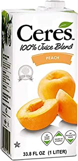 Ceres 100% All Natural Pure Fruit Juice Blend, Peach - Gluten Free, Rich in Vitamin C, No Added Sugar or Pr...