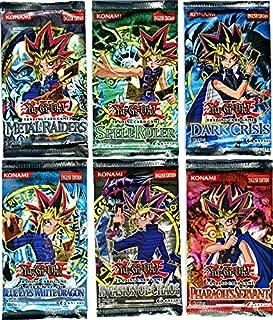 YuGiOh Card Game Lot of 6 Booster Packs Legend Blue Eyes White Dragon, Metal Raiders, Spell Ruler, Invasion of Chaos, Pharaohs Servant Dark Crisis