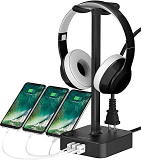 Headphone Stand with USB Charger COZOO Desktop Gaming Headset Holder Hanger with 3 USB Charger...