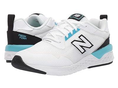 New Balance Kids 515 Sport (Little Kid/Big Kid) (White/Bayside) Boys Shoes