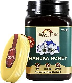 Nelson Honey Natural Manuka Honey 200+MG Factor, 500g (1.1lbs), Genuine New Zealand non-GMO - BPA Free Jar - 100% guarante...
