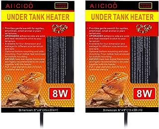 AIICIOO Reptile Under Tank Heater - 2 Pack Reptile Heating pad 8 Watt Terrarium Heater for Hermit Crab Lizard Snake