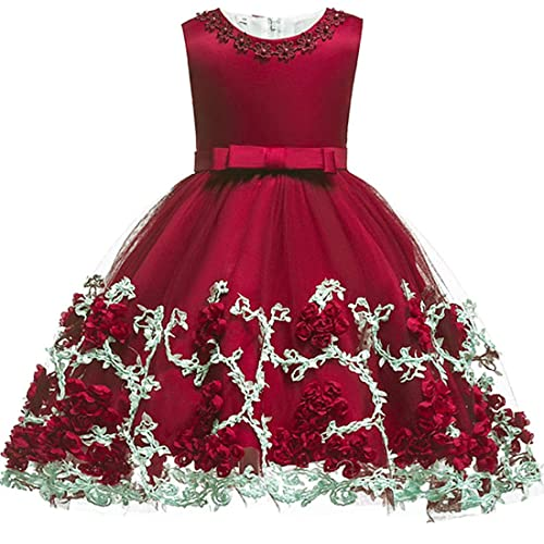 bec01f904 Baby Girls Flower Dress Wedding Party Toddler Dres Birthday Special  Occasion Girls Dress