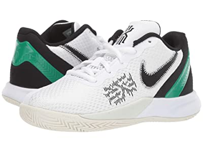 Nike Kids Kyrie Flytrap II (Little Kid) (White/Black/Lucid Green/Bright Crimson) Boys Shoes