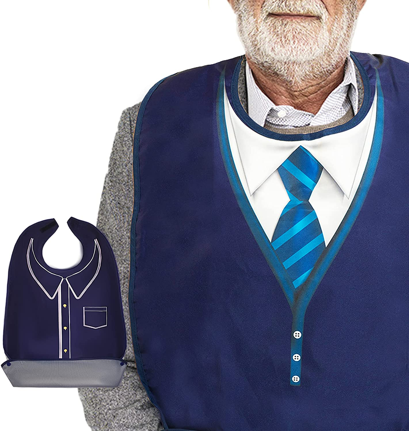 Classy Pal Adult 5% OFF Bibs for Men Wipe Super sale period limited Clothing 'n Wear Protec