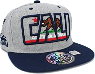 Embroidered CALI Bear in CALI with California MAP Snapback Cap