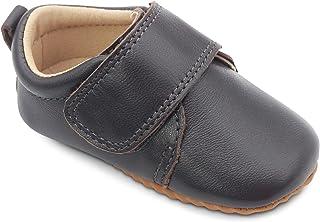 Dotty Fish Lujosos Zapatos clásicos de niño de diseño inglés para Ocasiones Especiales. Azul Marino y Marrón. 18.5-24 EU