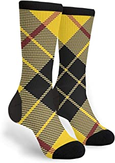Scots Style Clan Macleod Of Lewis Tartan Plaid Youth Male Mens Boys Teen Kid Unisex Ankle Themed Clothing Gifts Party Clothes Dresses Quarter Dress Mid Calf Knee Crew Socks Calf Knit Hosiery