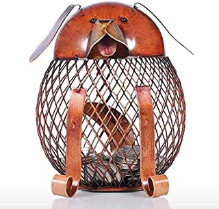 Yadianna Decorations Art Craft Children Money Bank Money Wrought Iron Tableware