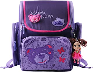 Delune Girl's School bag Cartoon Large Capacity Orthopedic backpack