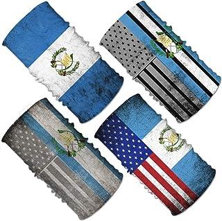 Set de cuellos deportivos multifuncionales (para cuello y cabeza), diseño de bandera, 4 unidades