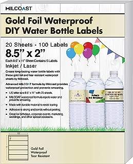 Milcoast Gold Foil Glossy Waterproof Tear Resistant DIY 8.5