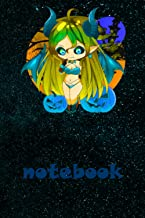 """Notebook 6""""x9"""" and 120 Lined Paper:Halloween Chibi Girl Anime Style Sexy Pinup Devilish gift for Men Women Kids: Notebook ..."""