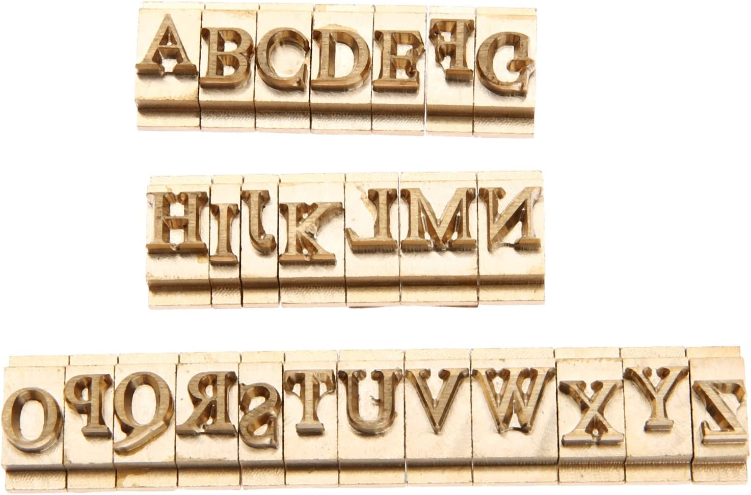 26pcs Set Brass Ranking TOP9 Alphabet Letter Weekly update Font Craft Mold Leather Se Stamp