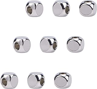 10pcs 5x6mm S925 Sterling Silver Carved Oval Spacer Connector Jewelry Finding for Diy Jewelry Making Bracelet Necklace Design,Silver Spacer