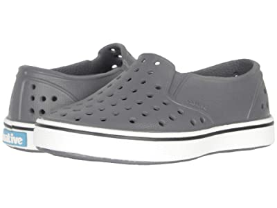 Native Kids Shoes Miles Slip-On (Toddler/Little Kid) (Dublin Grey/Shell White) Boys Shoes