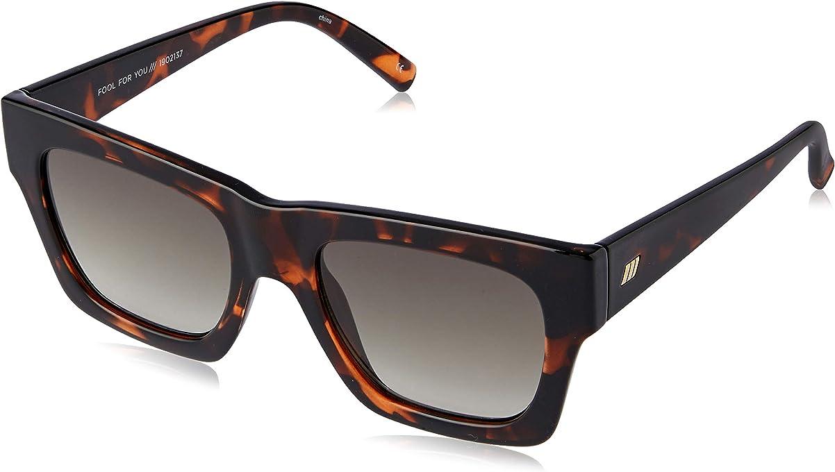 LE SPECS Unisex Fool For You LSP1902137  Wayfarer Sunglasses,Tort,52 mm