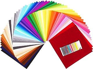 SOLEDI 60 Farben Filzstoff Filztuch Geeignet für Nähen, 30  30cm Felt Fabric Filzplatten zum DIY Handwerk Nähen Projekte Patchwork